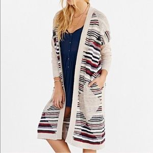 UO Silence + Noise Open Front Maxi Cardigan Duster